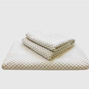Spa Waffle Cotton Jacquard Bath Towel