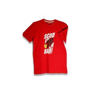 Scuderia-Ferrari Text Print T-Shirt