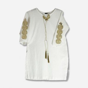 Nexto White Chicken Kari Kurta