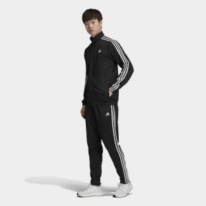 Adidas Tri Polyester Tracksuit(Black)