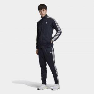 Adidas Tri Polyester Tracksuit(NBlue)